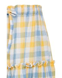 Innika Choo - Blue Tiered High Waist Midi Skirt - Lyst