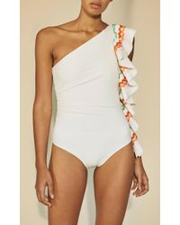 Paper London | White Coconut Onepiece Swimsuit | Lyst