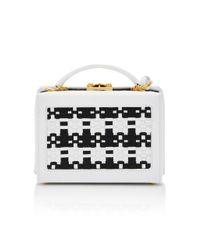 Mark Cross - White Basket Weave Small Grace Box - Lyst