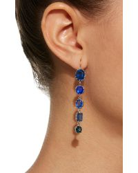 Renee Lewis Blue Antique Spinel And Sapphire Waterfall Earrings