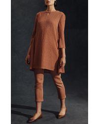 Hensely | Gray Back Flap Mini Dress | Lyst