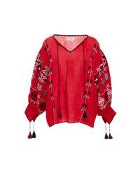 Nili Lotan - Red Cleo Printed Blouse - Lyst