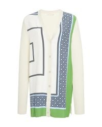 Tory Burch | Multicolor Greer Silk Cardigan | Lyst