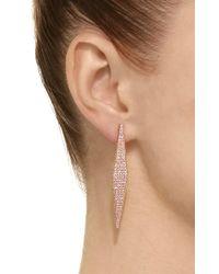 Ralph Masri - Pink Sapphire Geometric Earrings - Lyst