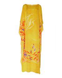 Stella Jean - Yellow Wide Neck Caftan - Lyst