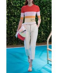 Emilio Pucci - Natural Slim Cropped Trousers - Lyst
