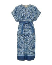 Sea | Blue Flocked Organza Mini Dress | Lyst