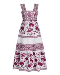 Alexis Pink Verity Embroidered Linen Midi Dress