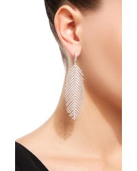 Sidney Garber - 18k White Gold Feathers That Move Diamond Earrings - Lyst