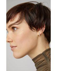 Sophie Bille Brahe Metallic Boucle Ensemble 18k Gold Diamond Hoop Earring