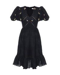 Lug Von Siga Black Emma Embroidered Cotton Dress