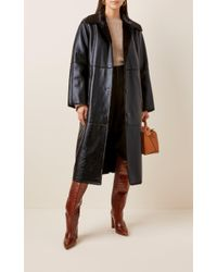 Stand Studio Black Nino Faux-leather Coat