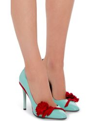 Oscar de la Renta - Blue Lola Pump In Seafoam Patent Leather - Lyst