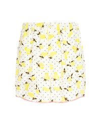 Piamita Multicolor Bettie Silk Lemon Print Pajama Shorts