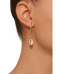 Isabel Marant - Metallic Malebo Gold-tone, Bead And Shell Hoop Drop Earrings - Lyst