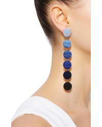 Rebecca de Ravenel - Blue Six Drop Ombre Earrings - Lyst