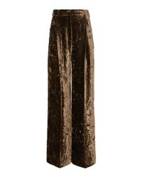 Racil Brown Peter Velvet Wide-leg Pants