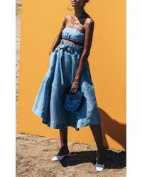 Cult Gaia Blue Maisie Skinny Belt