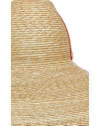 Lola Hats Orange Sugar Cone Oversized Straw Hat