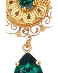 Dolce & Gabbana - Green Crystal Earrings - Lyst