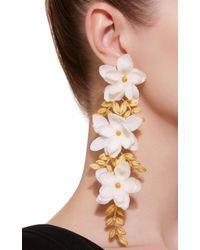 Mallarino White Gaby Large Earrings