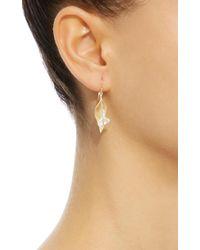 Annette Ferdinandsen - Metallic Cala Lily 18k Gold Mother Of Pearl Earrings - Lyst