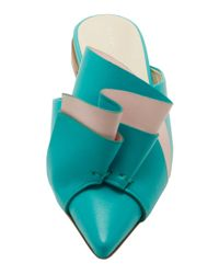 Delpozo - Blue Bow Mule - Lyst