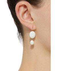 Renee Lewis - White 18k Gold Opal Earrings - Lyst