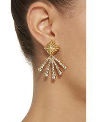 Nicole Romano | Metallic 18k Gold-plated Scalloped Crystal Earrings | Lyst