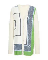 Tory Burch - Multicolor Greer Silk Cardigan - Lyst