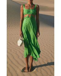 Cult Gaia Green Eileen Dress