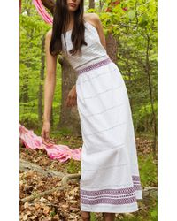 Jaline - White Andrea Handwoven Cotton Midi Dress - Lyst