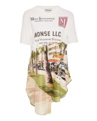 Monse White Torn Scenic Shirt Tail