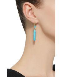 Lauren K - Blue One-of-a-kind Joyce Ii Turquoise Earrings - Lyst