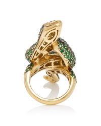 Sidney Garber - Green Eyed Snake Ring - Lyst