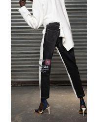 Monse Multicolor Half Half Jeans