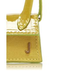 Jacquemus Yellow Le Petit Chiquito Patent-leather And Suede Bag