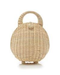 Cult Gaia Brown Millie Wicker Dome Bag