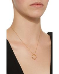 Monica Rich Kosann - Metallic Poesy Never Fear 18k Gold Ruby Necklace - Lyst