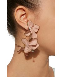 Marni - Pink Flower Drop Earrings - Lyst