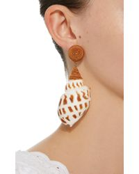 Rebecca de Ravenel - Brown Ophelia Tan Earrings - Lyst