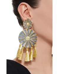 Mercedes Salazar - Blue Yui Tasseled Gold-plated Earrings - Lyst
