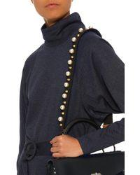 Suel and Litho Black Embellished Shoulder Strap