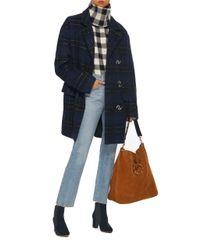 Tibi   Blue Oversized Plaid Coat   Lyst