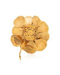 Erickson Beamon - Metallic Crystal Flower Brooch - Lyst