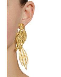 Mallarino - Metallic Pepa Talking Parrots Large Single Earring And Stud - Lyst