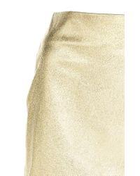 Paule Ka - Metallic Fitted Leather Mini Skirt - Lyst