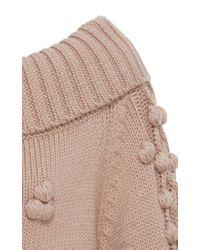 Marissa Webb Pink Camden Shawl Collar Pullover