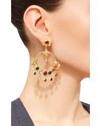 Sanjay Kasliwal - Metallic Raj Navratna Chandelier Earrings - Lyst