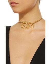 Joanna Laura Constantine - Metallic Gold-plated Knot Choker Necklace - Lyst